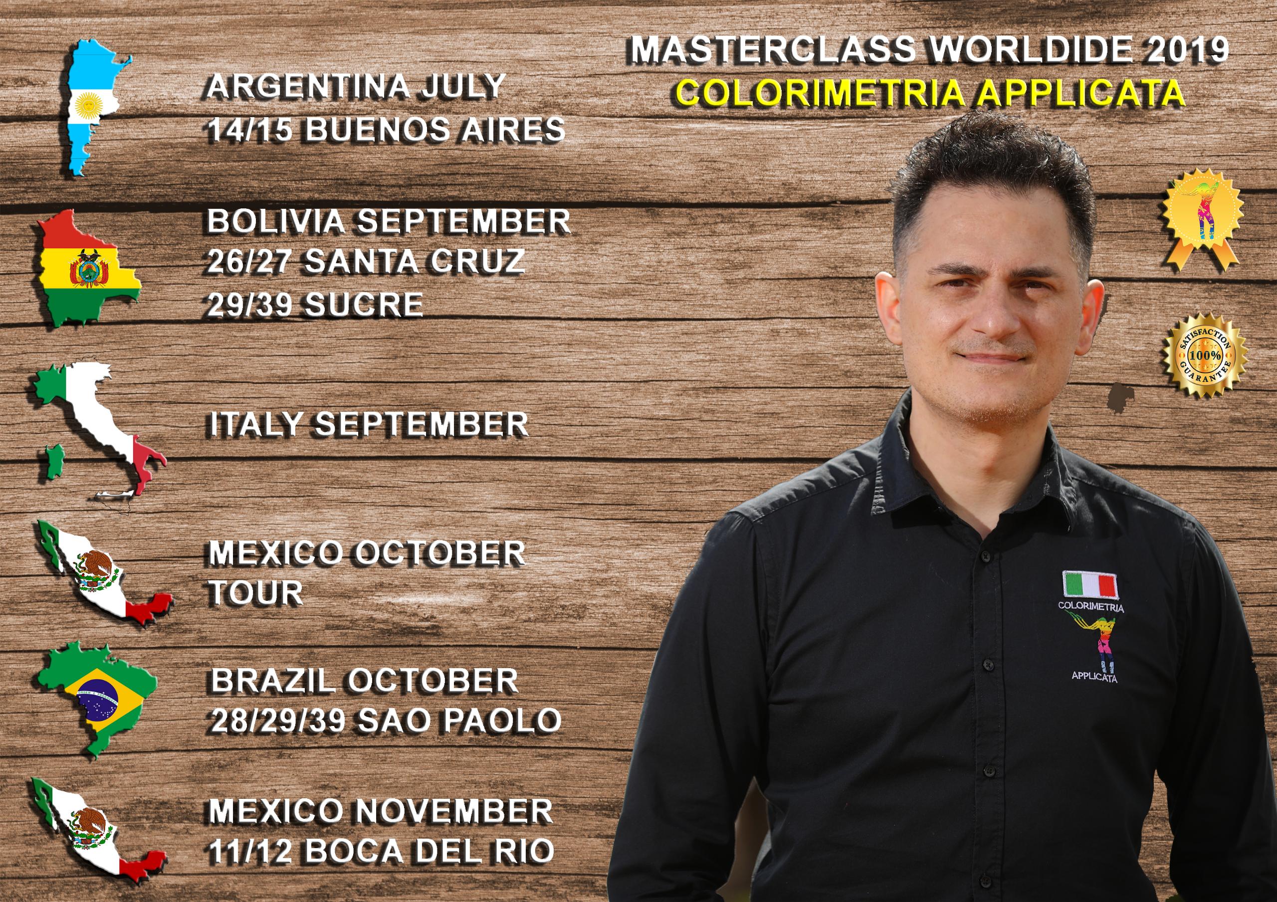 MASTERCLASS WORLDWIDE BY CLAUDIO TERRIBILE HAIRCOLORIST 2019