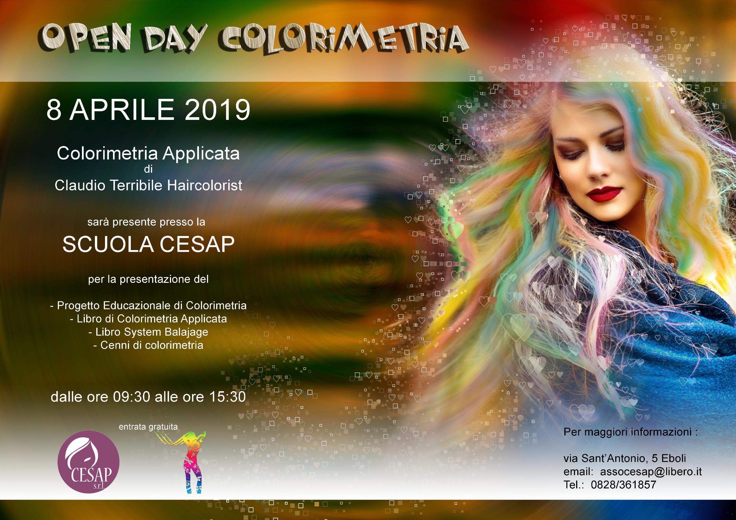 Open Day di Colorimetria di Claudio Terribile Haircolorist presso la Scuola Cesap di Eboli