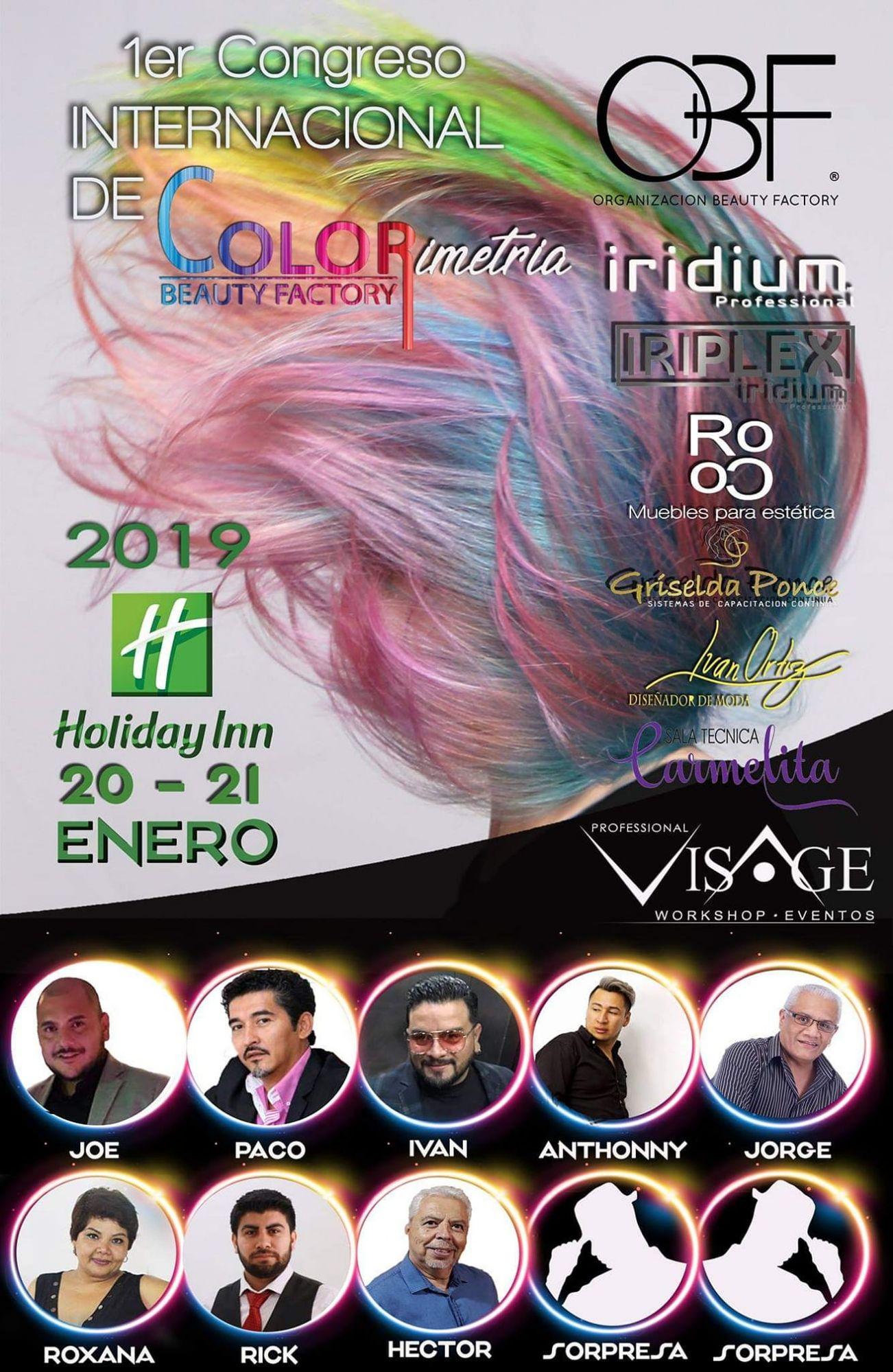 Il primo congresso internazionale di colorimetria universale a Boca del Rio Veracruz - MessicoOrganizzazione Beauty Factory da Professional Visage Workshop International Events